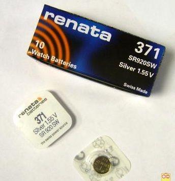 Батарейка RENATA 371